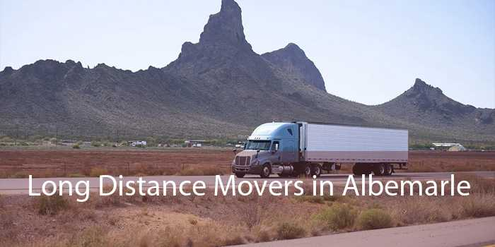 Long Distance Movers in Albemarle